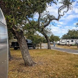 Sites accommodate some large RV's, as well as our tiny one.