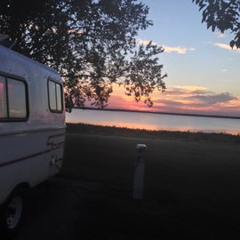 Waurika Lake at Wichita Ridge campground.