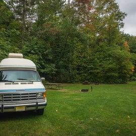 Branbury State Park campsite.