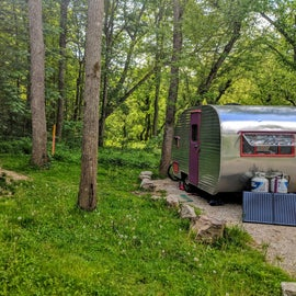Site #4 is perfect for small to medium RV's.