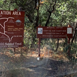 Signs for Coronado National Forest