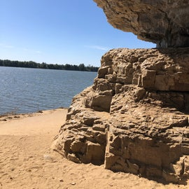 View of the Ohio River from the mouth of the cave