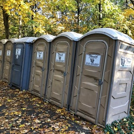 While the bathhouse can be a hike from your site, there are plenty of pit toilets closer by
