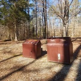 Critter proof trash bins