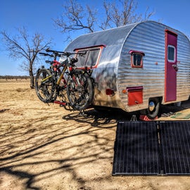 Our portable panel gives us all the energy we need to live and work from the road!