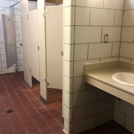 Centrally located bathhouse was clean