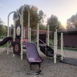 Nice playground is centrally located between the two loops