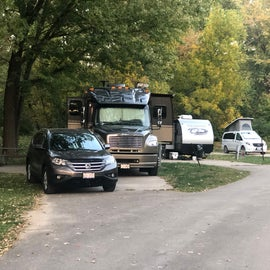 """The sites are """"stacked"""" but a little too close together for our liking. We didn't have neighbors to the east of Site 40."""
