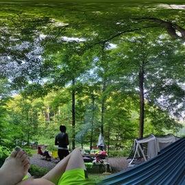 Camp site set up.