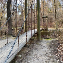 Swinging bridge on the dancing rabbit trail