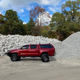 Dump station is behind all these rocks!