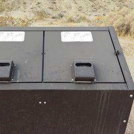 trash bins throughout. No recycling bins here.