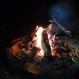 Nice warm fire on a cold evening