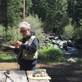 Good idea of how close campsites are to the stream.