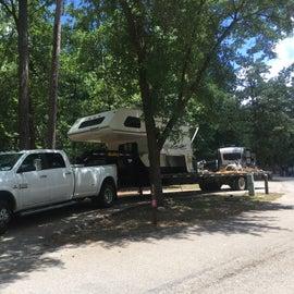 a pull through campsite