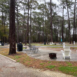 A view of the patio sites.