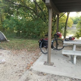 Nice campsite along the Neosho River.