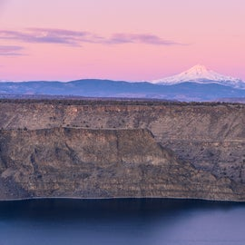 Mount Jefferson rising above Lake Billy Chinook, Copyrighted by Christian Murillo Photography