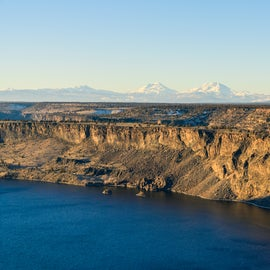 Three Sisters and Lake Billy Chinook, Copyrighted by Christian Murillo Photography