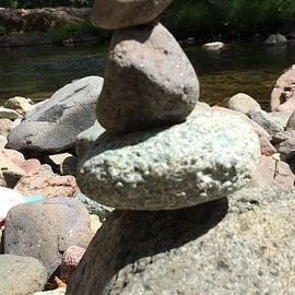 Rock stacks along the North Umpqua