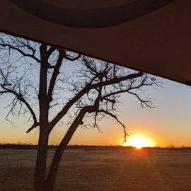 Sunrise from the rooftop tent...