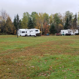 View of field campsites