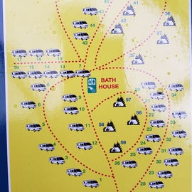 General map of the campground