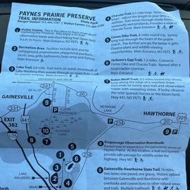 Note all the trails where pets aren't allowed