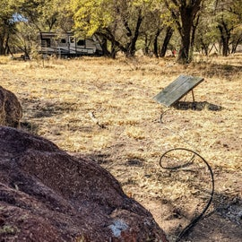 Bring your solar panel and save some money by camping in the primitive area.