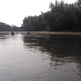 Wapsipinicon River upstream from Sherman Park