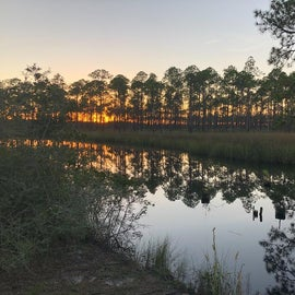 Sunset from camp site