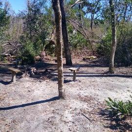 Hike in campsite