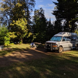 Site 43 -- a nice end spot in the modern campground.