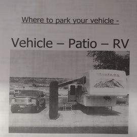 Site setup. Your tow/towed vehicle are on the other side of your patio.