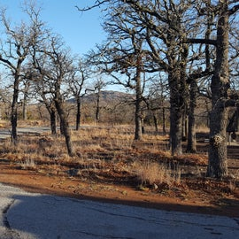 View of the Wichita Mountains from the front of our campsite.