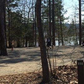 Site 232 is big rig friendly and one of the best in the campground