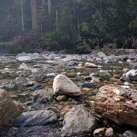 Cool off your feet in ice cold streams