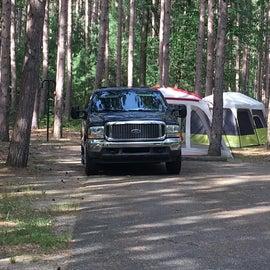 Roomy campsites.