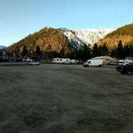 Full view of the parking lot