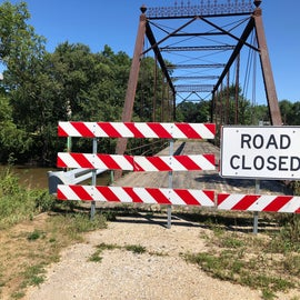 The bridge would provide a more direct route to the campground but there are no plans to re-open it