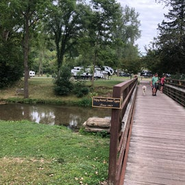 Bridge separating the two sections of the campground