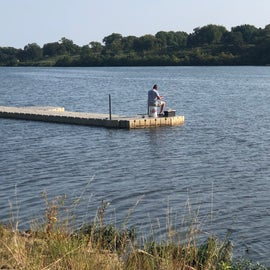 Fishing in the lake