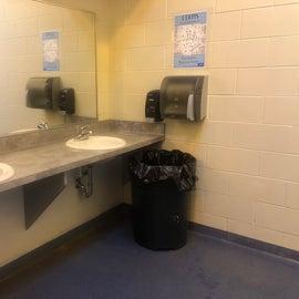 Women's restroom was clean