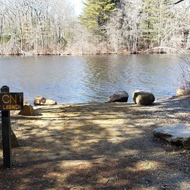 Canoe launch at Canoe tent sites