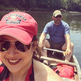 Taking the canoe on the Cheat River