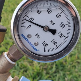 Low pressure during water use.