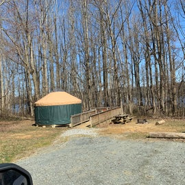 One of 2 Yurts. Other one was damaged by a tree.