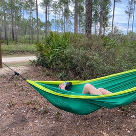 Kids managed to find hammock spots. their #1 goal