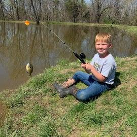 The fishing pond.