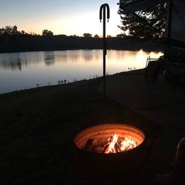 Fireside sunset
